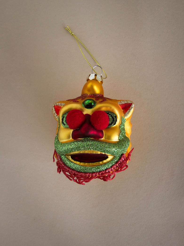 Parade Dragon Ornament – Gold