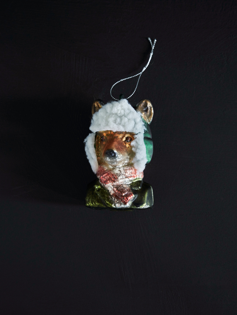 Winter Ready Fox Ornament