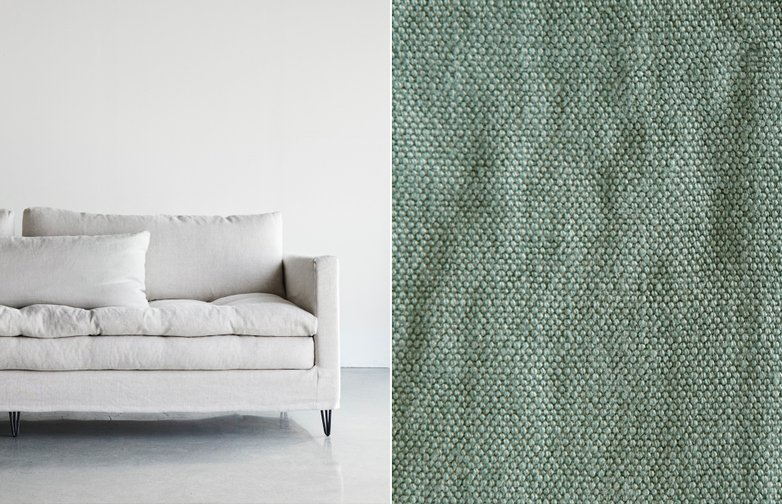 180 cm - Lin Souvage - Lichen Light Green