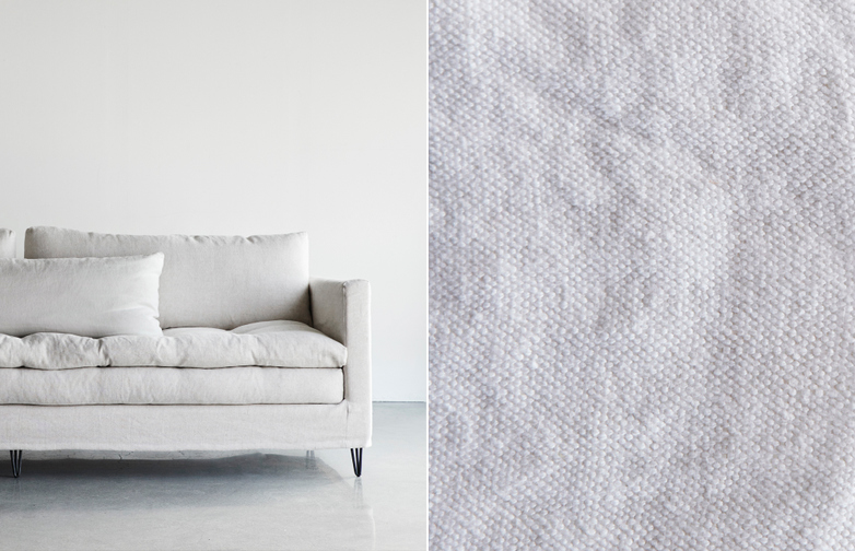180 cm - Lin Souvage - Neige White