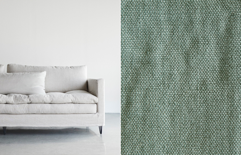 218 cm - Lin Souvage - Lichen Light Green