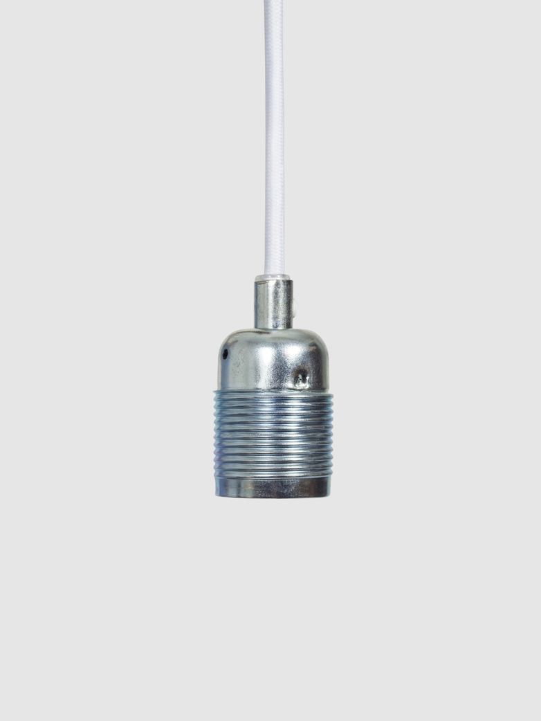 E27 Pendant Steel/White