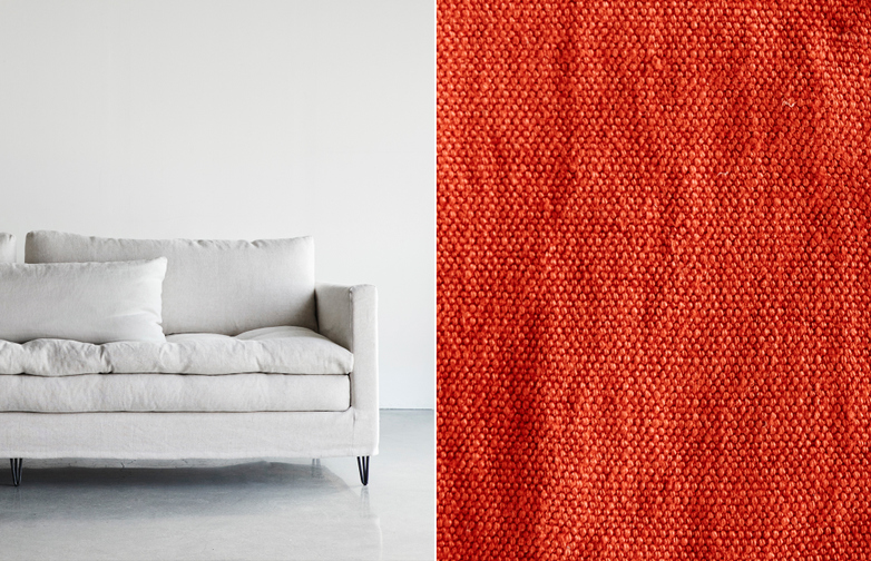 250 cm - Lin Souvage - Red