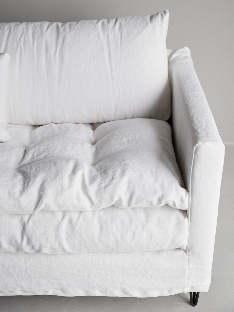 Adar Sofa – Lin Souvage - Neige White – 250 cm