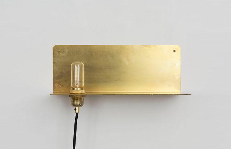 90° Wall Shelf Brass