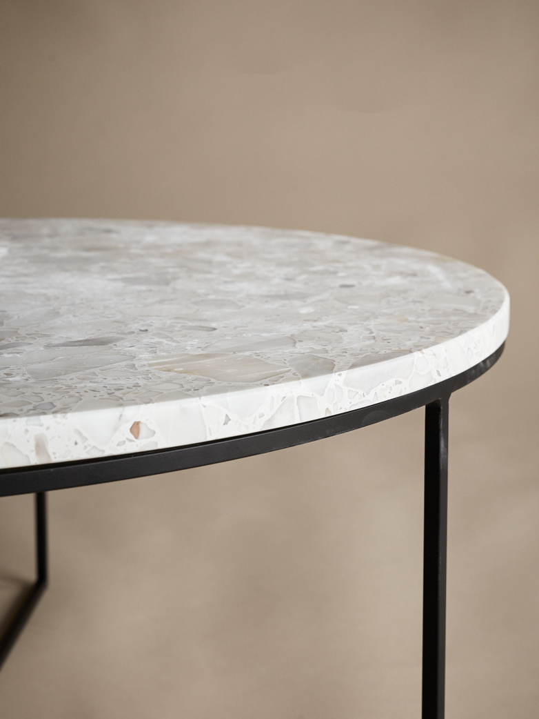 Aventino Round Table – White Trivaso Marble