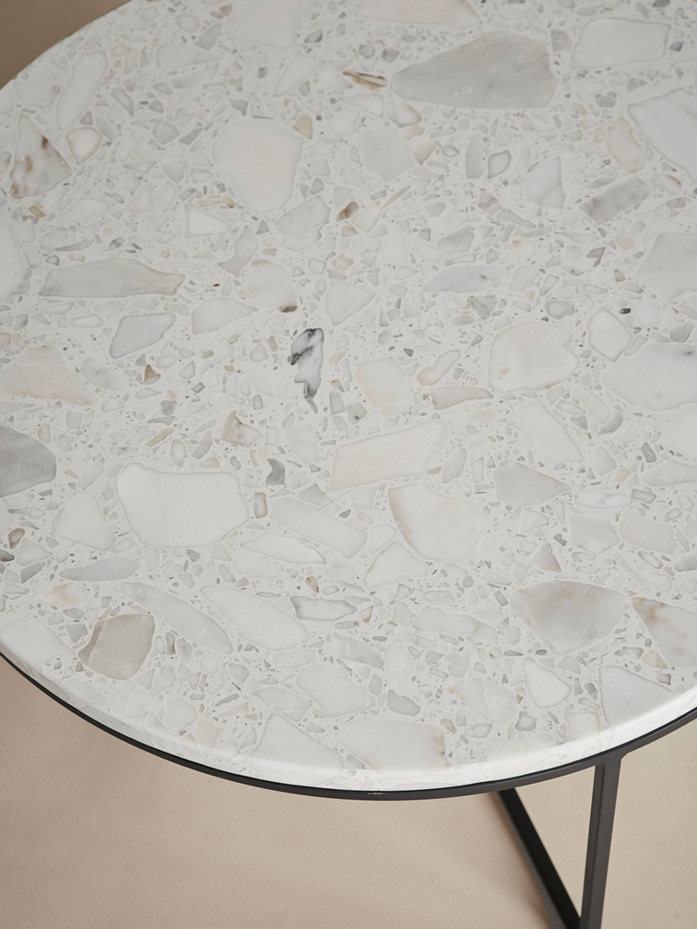 Aventio Round Table – Ø60 – Traviso White Marble