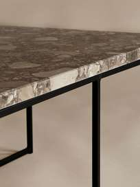Aventino Table – 70 x 70 – Traviso Brown Marble