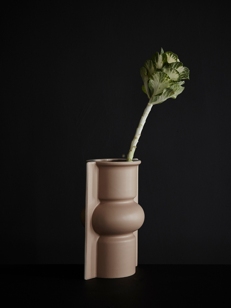 Mold Shape Flower Vase – Matt Mocha
