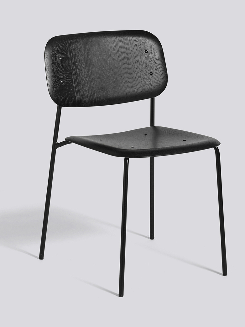 Soft Edge 10 - Black Powder Coated Steel  - Black Stained
