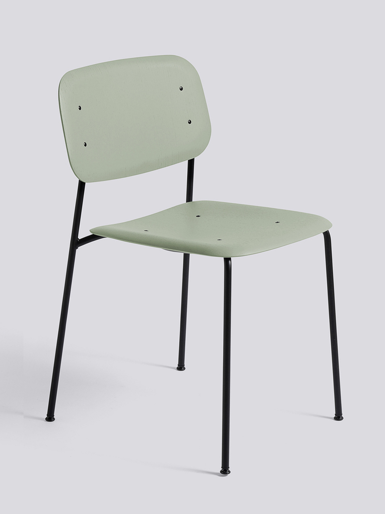 Soft Edge 10 - Black Powder Coated Steel  - Dusty Green Stained