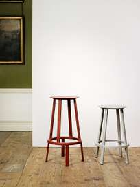 Revolver Bar Stool High - Black Powder Coated