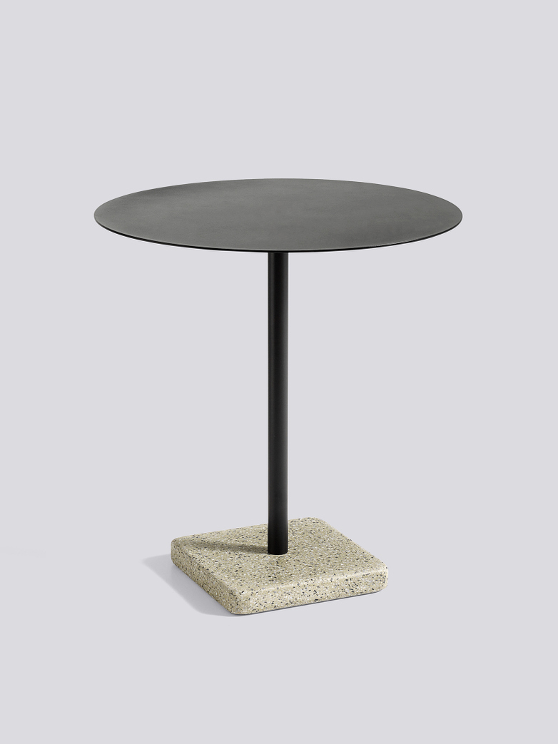 Terrazzo Round Table - Yellow Terrazzo - Anthracite powder coated