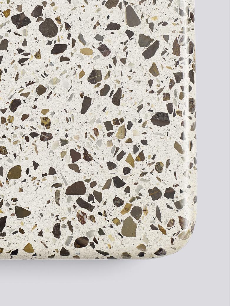 Terrazzo Square Table - Grey Terrazzo - Anthracite powder coated