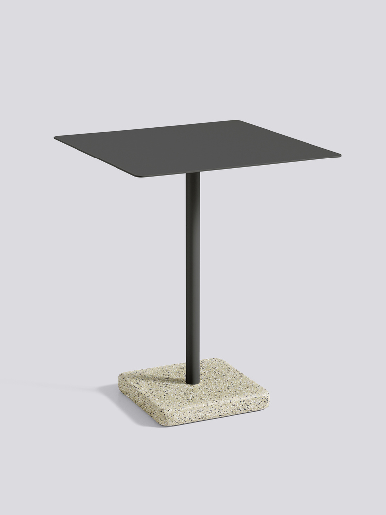 Terrazzo Square Table - Yellow Terrazzo - Anthracite powder coated