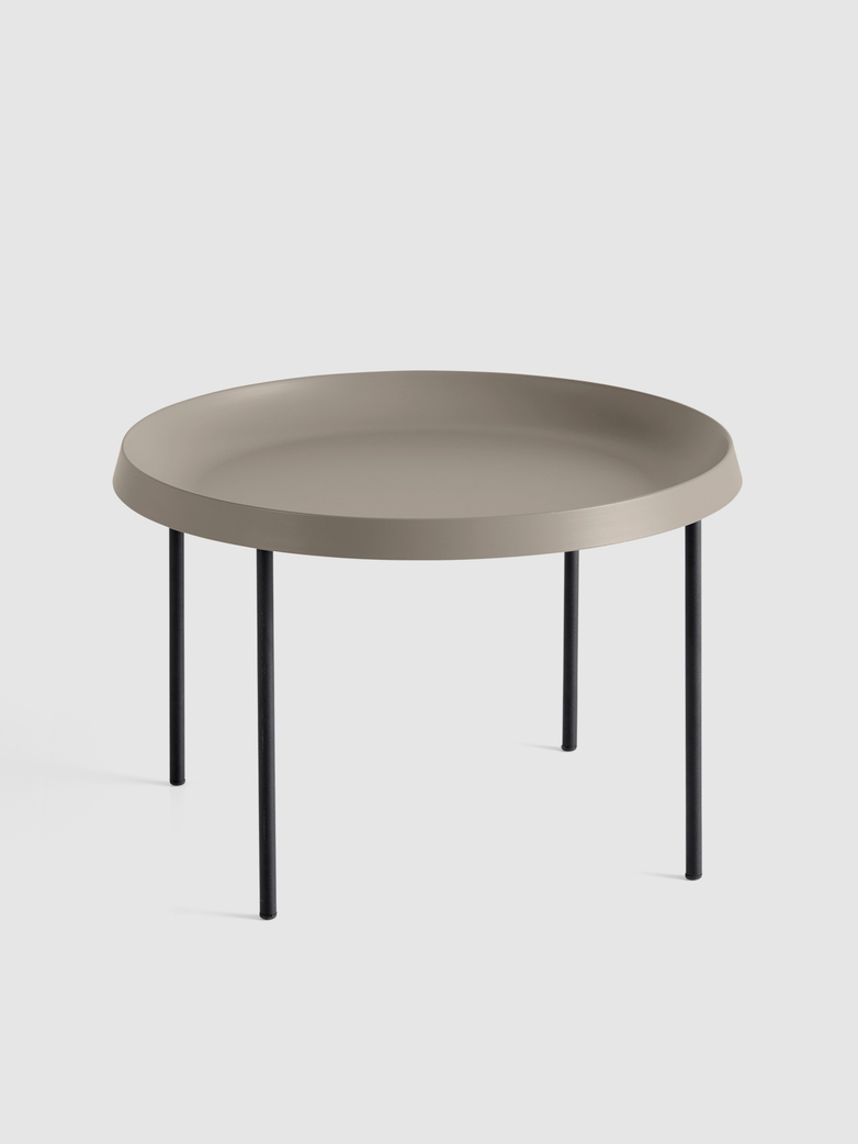 Tulou Coffee Table - Black Powder coated Steel - Mocca Powder coated Steel