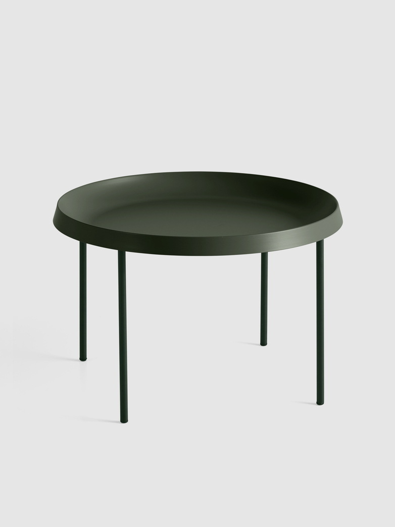 Tulou Coffee Table - Dark moss Powder coated Steel - Matt Green Powder coated