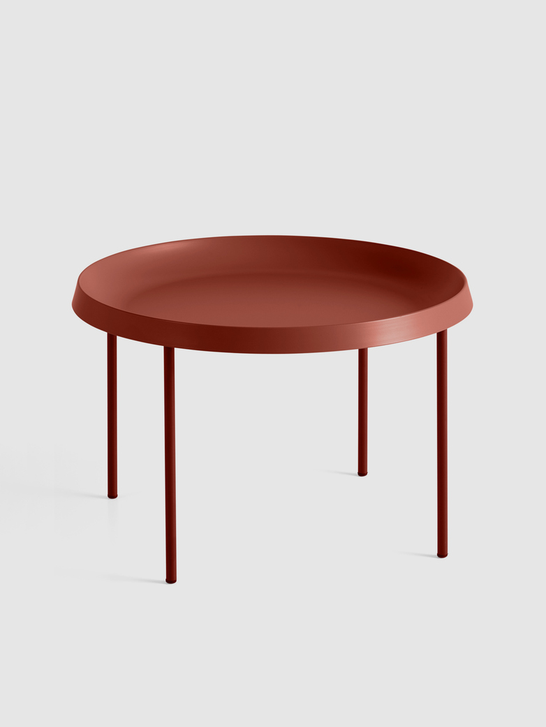 Tulou Coffee Table - Rust Powder coated Steel - Orange Powder Coated steel
