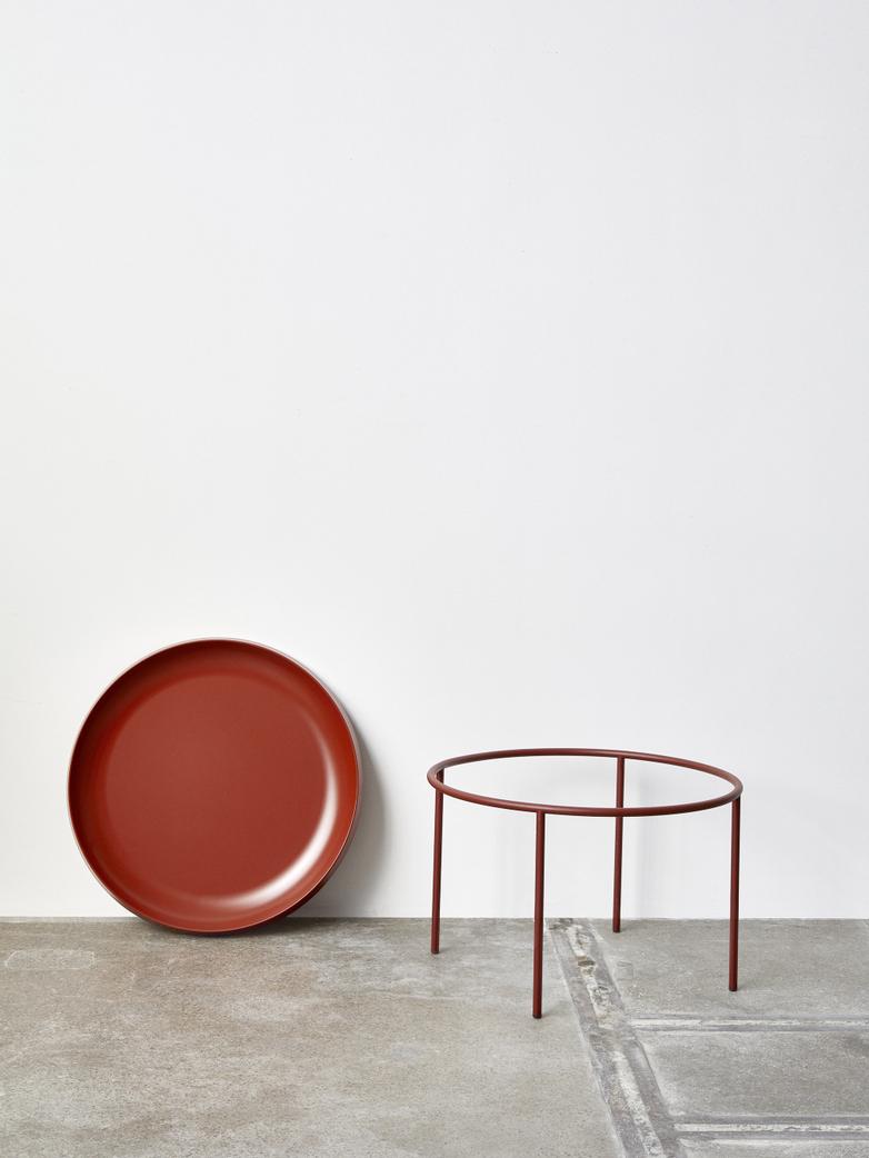 Tulou Coffee Table - Rust Powder coated Steel - Orange Powder Coated steel