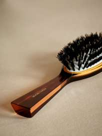 Oval Hair Brush with Natural Bristles