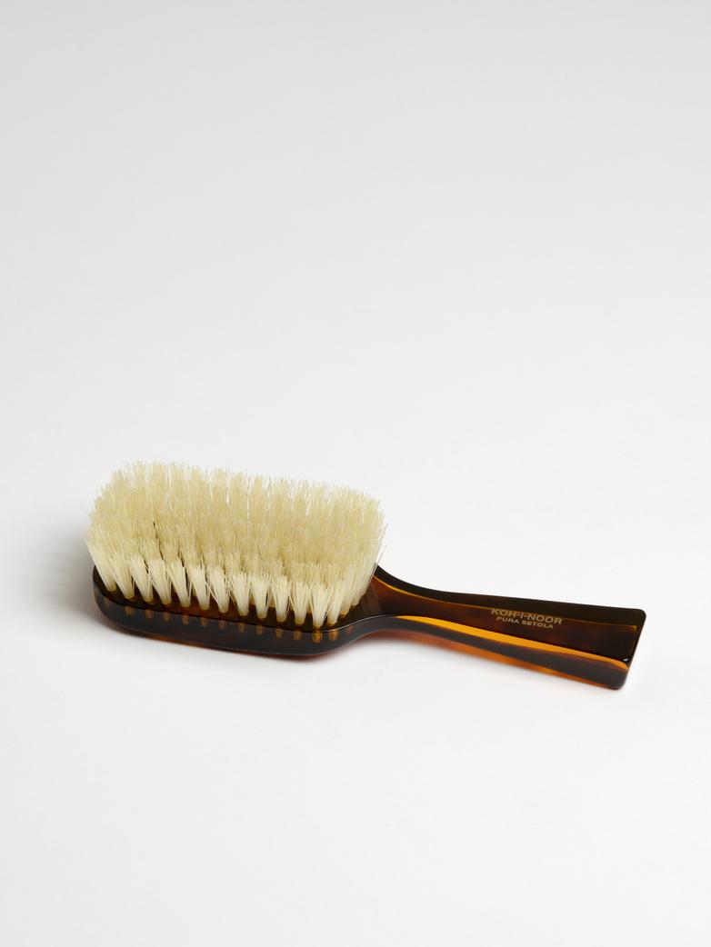 Rectangular Hair Brush with Natural Bristles