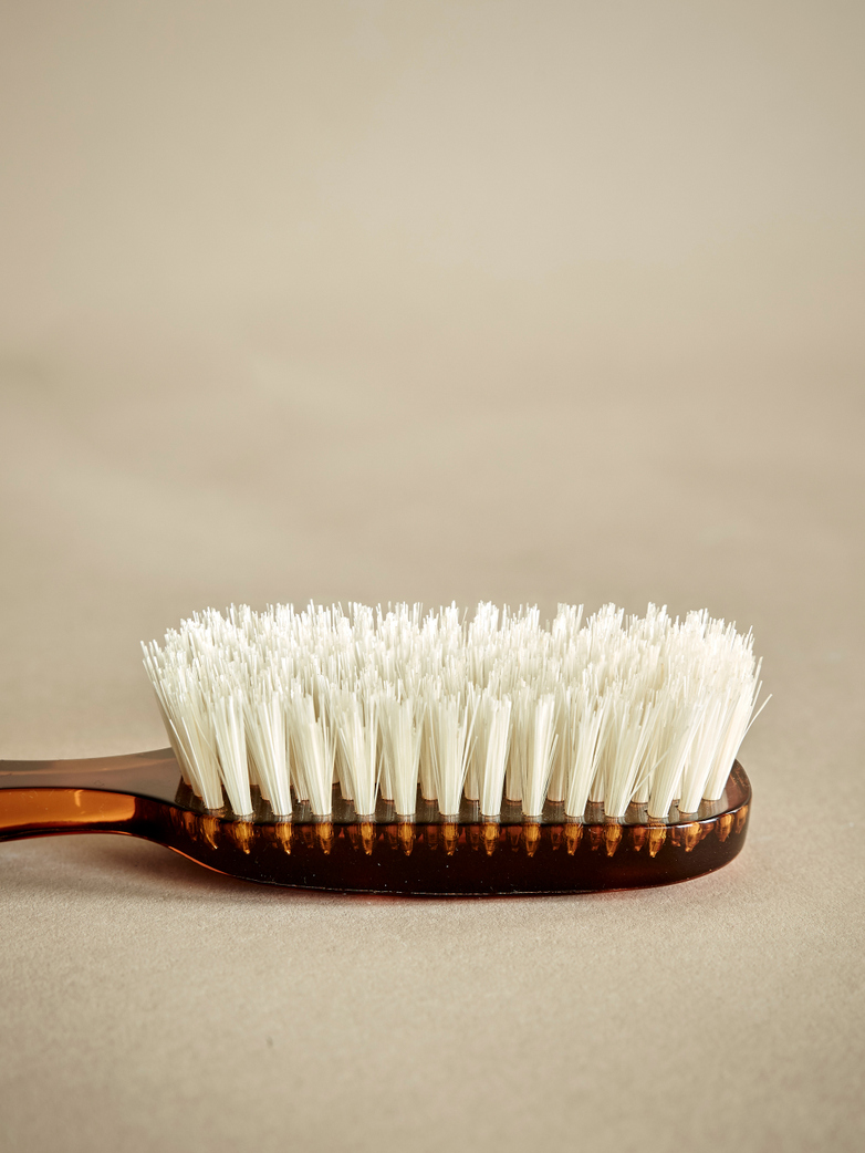 Rectangular Hair Brush with Natural Bristles