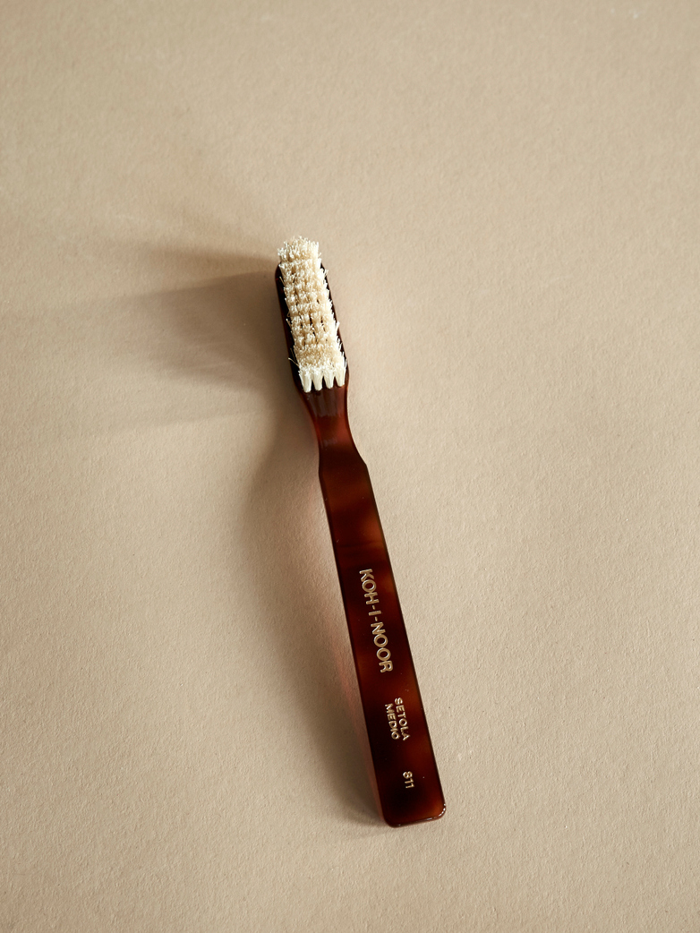 Toothbrush with Natural Bristles