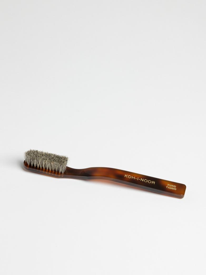 Toothbrush with Natural Bristles – Dark Grey