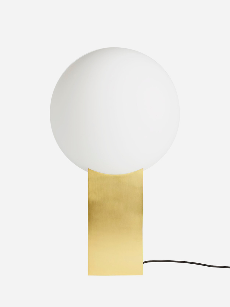 Hoop Floor Lamp – Brass