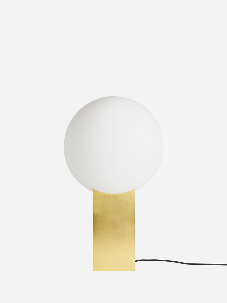 Hoop Table Lamp – Brass