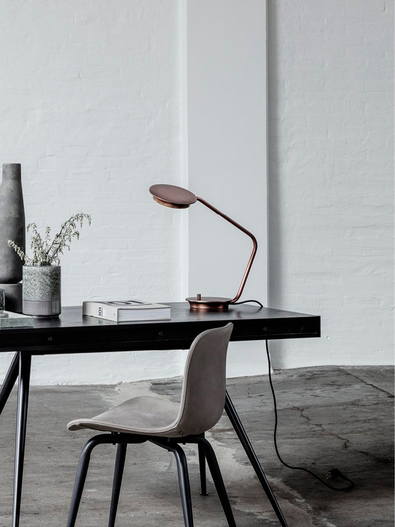Modernist Table Lamp – Copper