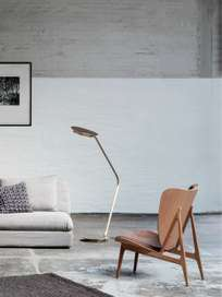 Modernist Floor Lamp – Brass