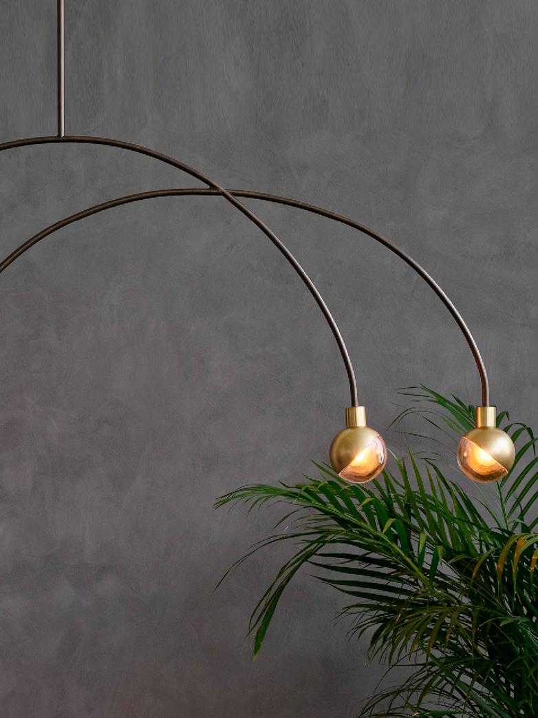 Arc Pendant Lamp – Brass