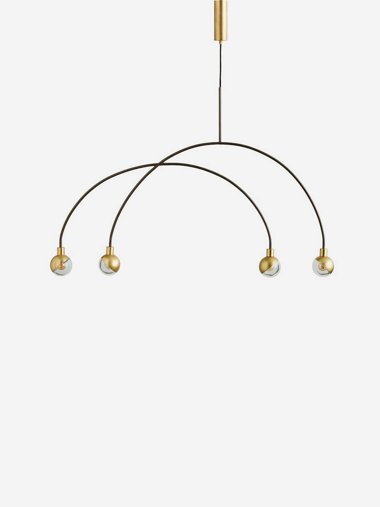 Arc Pendant Lamp – Brass