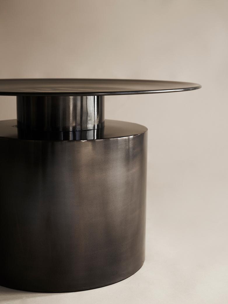 Pillar Coffee Table – Burned Black – Low