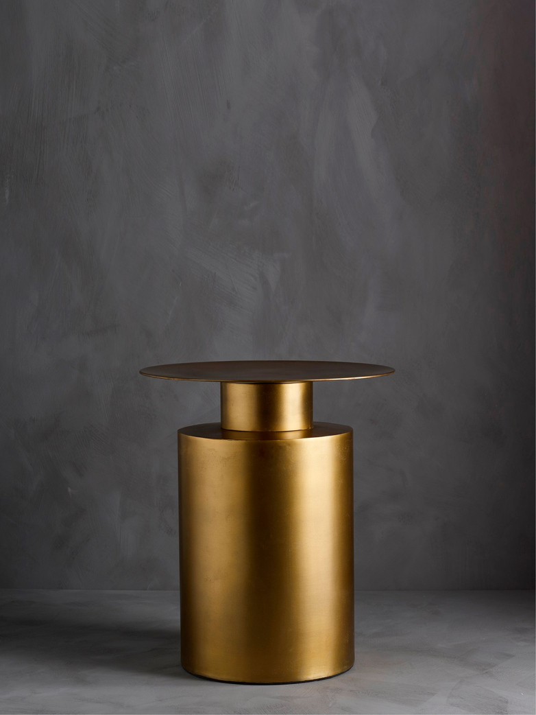 Pillar Coffee Table – Brass Antique – Tall