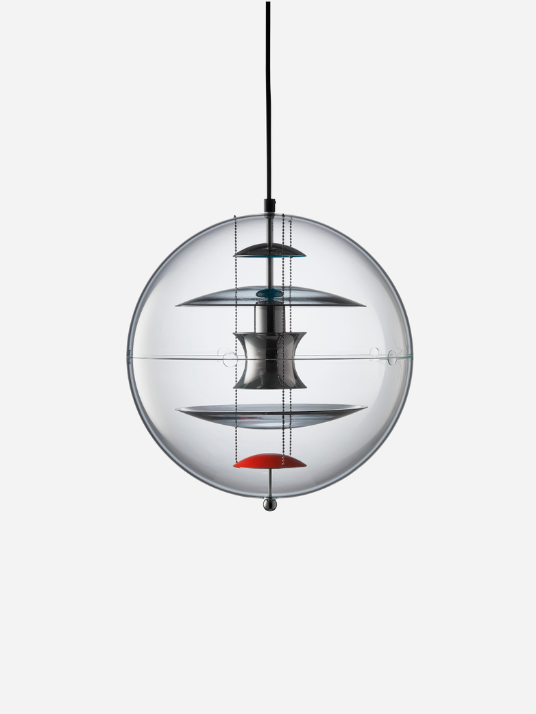 VP-Globe Pendant with Colored Glass