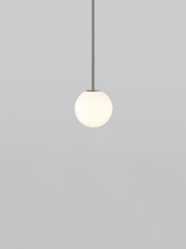 Pendant 80 - Polished Nickel - Plated Brass