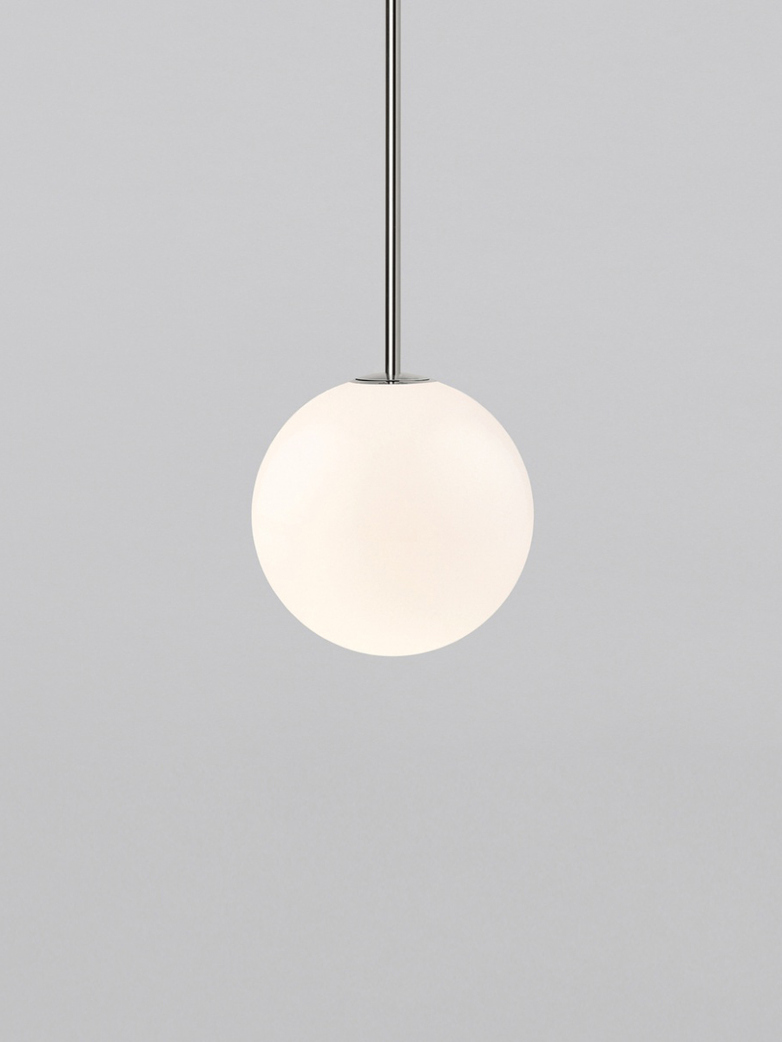 Pendant 150 - Polished Nickel - Plated Brass