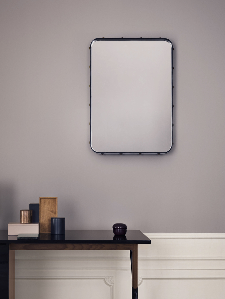 Adnet Rectangular Mirror Black - 50x70cm