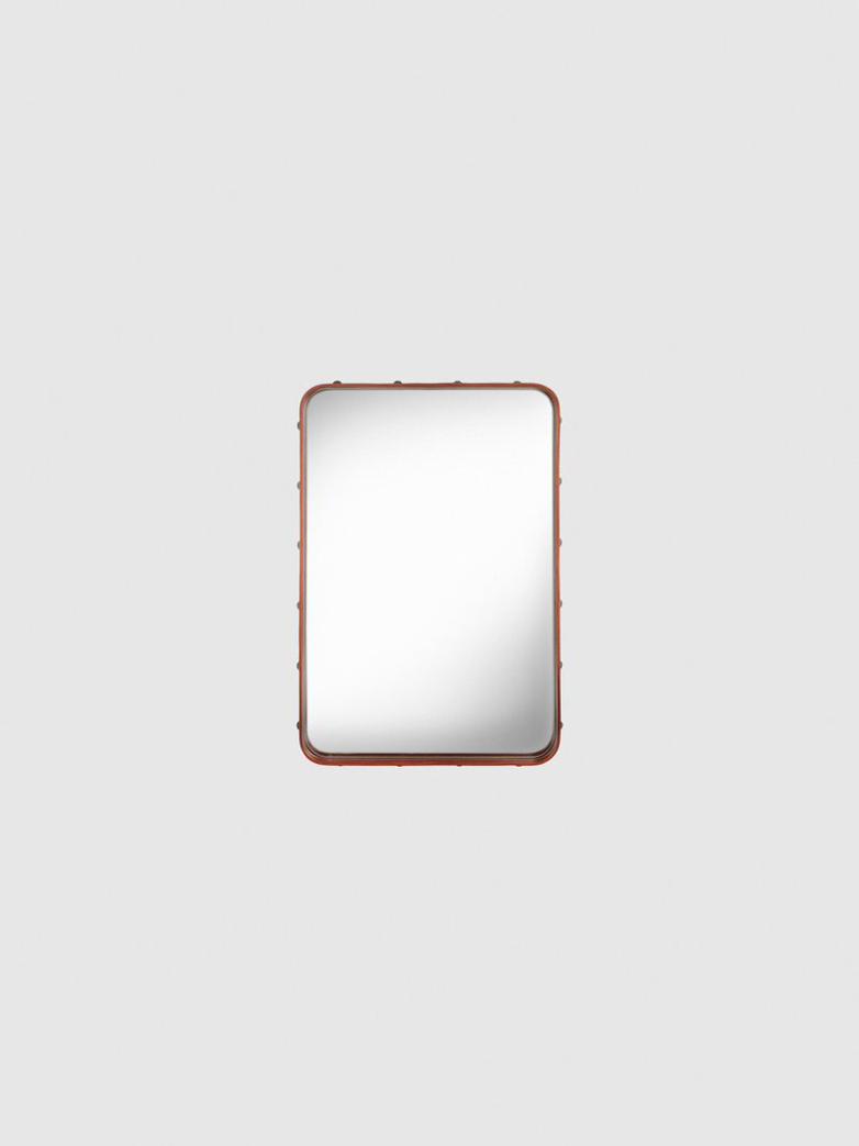 Adnet Rectangular Mirror Tan - 50x70cm