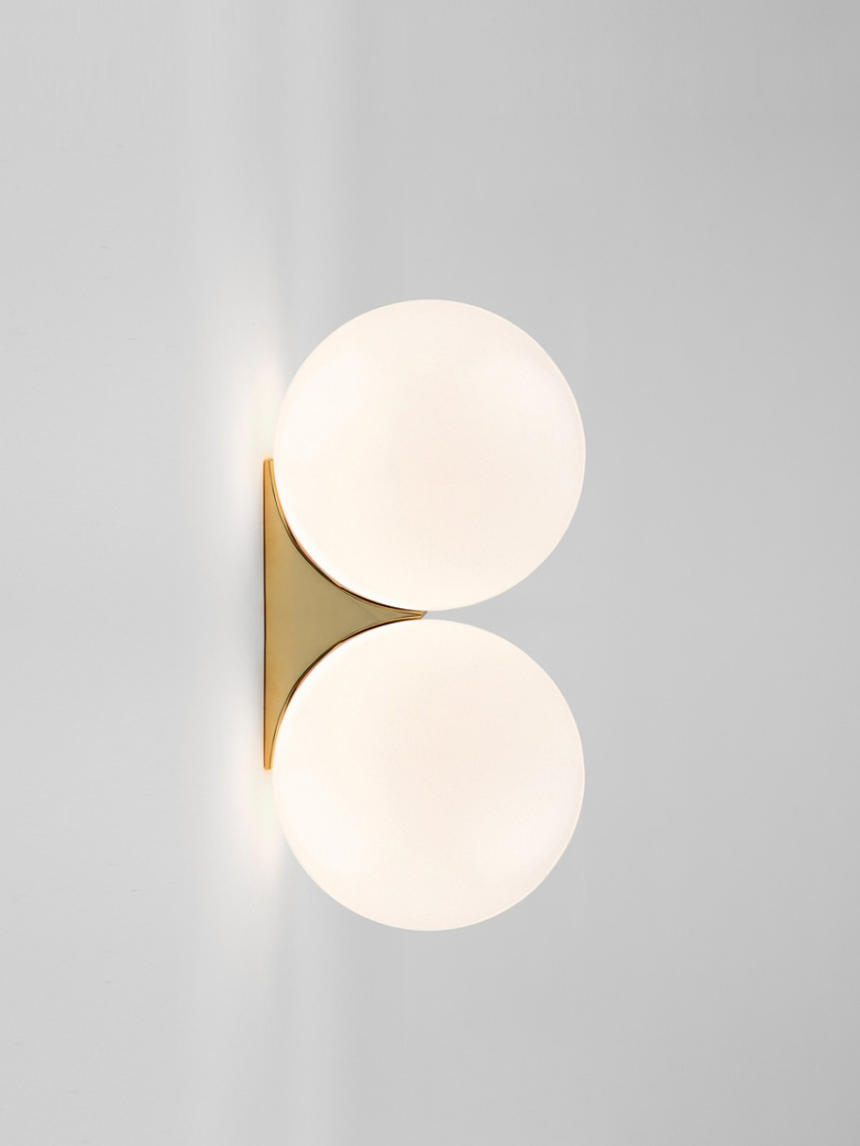 Double Sconce 150 Wall Mounted - Polished Brass