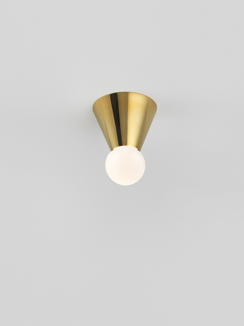Cone Light Wall/Ceiling Mounted - Polished Brass