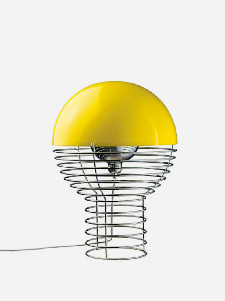 Wire Table Lamp – Large – Yellow