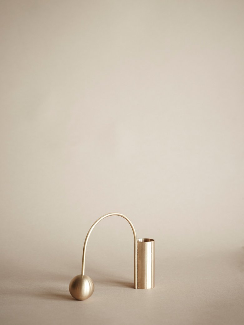 Balance Candle Holder – Brass