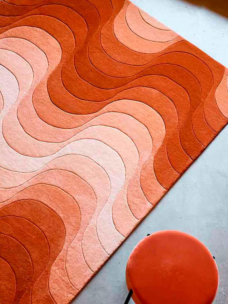 Wave Rug - Orange