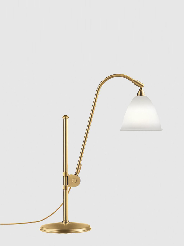 Bestlite BL1 Table Lamp – Brass Base - Bone China White