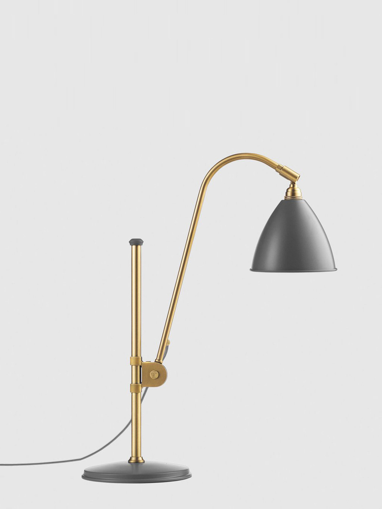 Bestlite BL1 Table Lamp – Brass Base - Grey
