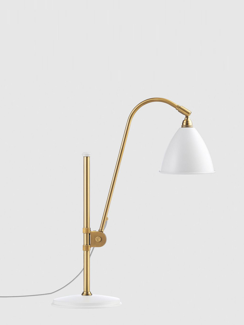 Bestlite BL1 Table Lamp – Brass Base - White