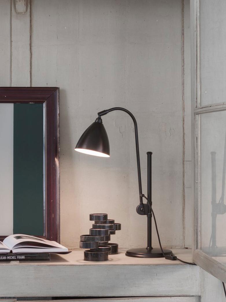 Bestlite Bl1 Table Lamp Black Brass Base Classic White